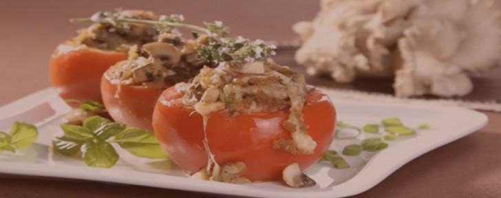 как пълнени домати гъбен сос