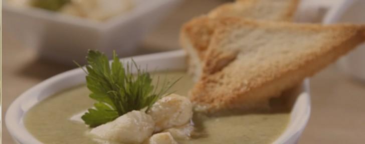 как спаначена супа с ньоки и извара